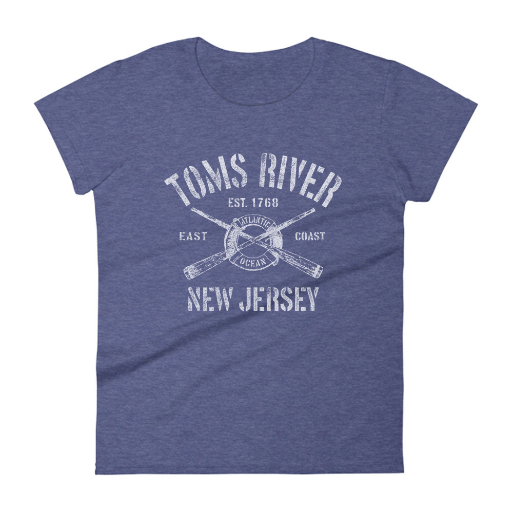Toms River New Jersey NJ Women's Fashion Fit T-Shirt Nautical Boating Design