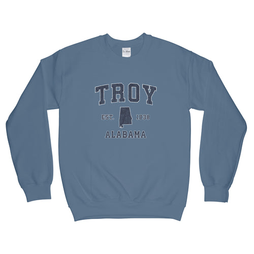 Troy Alabama AL Sweatshirt Vintage Sports Design Adult (Unisex)