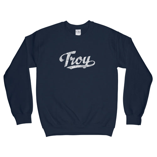 Troy Alabama AL Sweatshirt Baseball Script - Adult (Unisex)