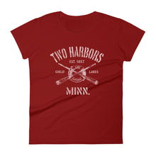 Two Harbors Minnesota MN Women's Fashion Fit T-Shirt Nautical Boating Design