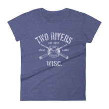 Two Rivers Wisconsin WI Women's Fashion Fit T-Shirt Nautical Boating Design