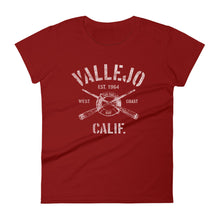 Vallejo California CA Women's Fashion Fit T-Shirt Nautical Boating Design