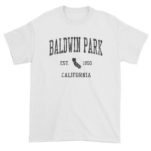 Vintage Baldwin Park California CA T-Shirts Red Print