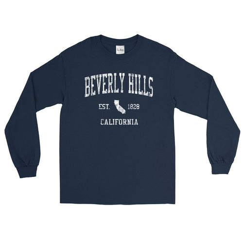 Vintage Beverly Hills California CA Adult Long Sleeve T-Shirt (Unisex)