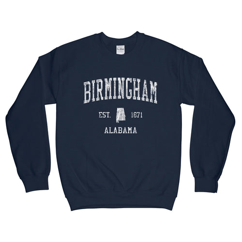 Birmingham Alabama AL Sweatshirt Vintage Sports Design - Adult (Unisex)