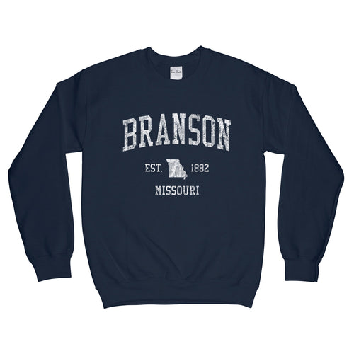 Branson Missouri MO Sweatshirt Vintage Sports Design - Adult (Unisex)