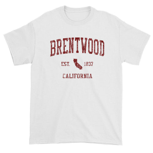 Vintage Brentwood California CA T-Shirts Red Print