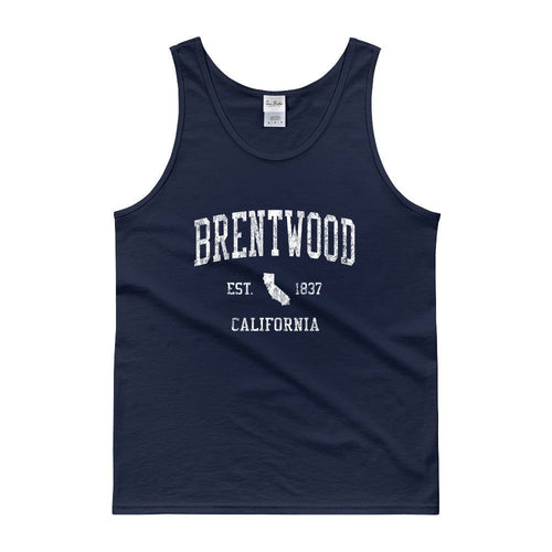 Vintage Brentwood California CA Tank Top Adult