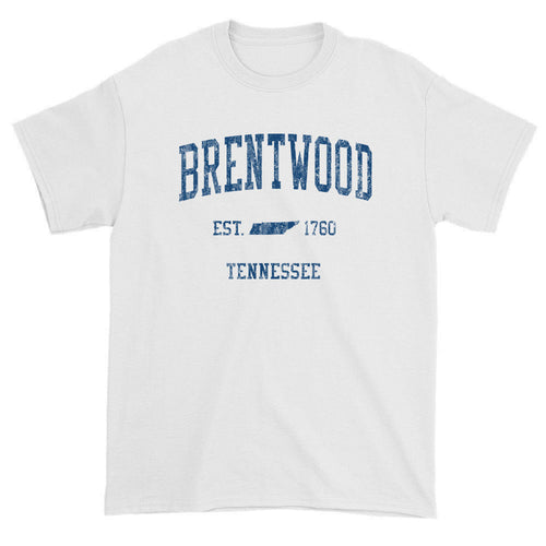 Vintage Brentwood Tennessee TN T-Shirts Red Print