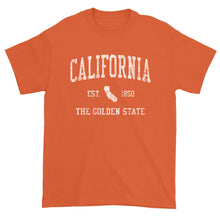 Vintage California T-Shirt Sports Design Heavy Cotton Adult Tee