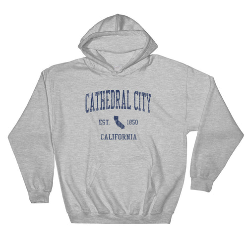Vintage Cathedral City California CA Hoodie Adult (Navy Print)