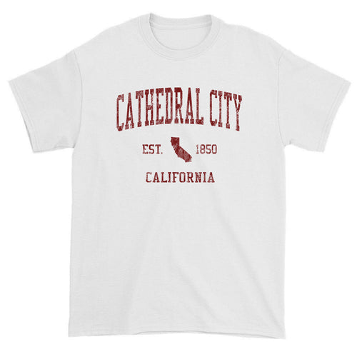 Vintage Cathedral City California CA T-Shirts Red Print