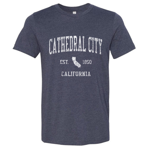 Cathedral City California CA T-Shirt Vintage Sports Design - Adult (Unisex Tee)