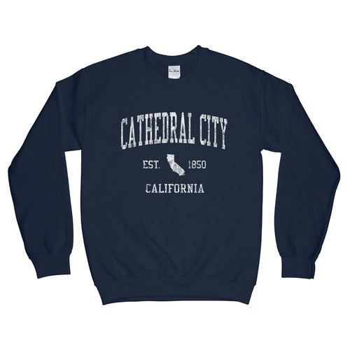 Cathedral City California CA Sweatshirt Vintage Sports Design - Adult (Unisex)