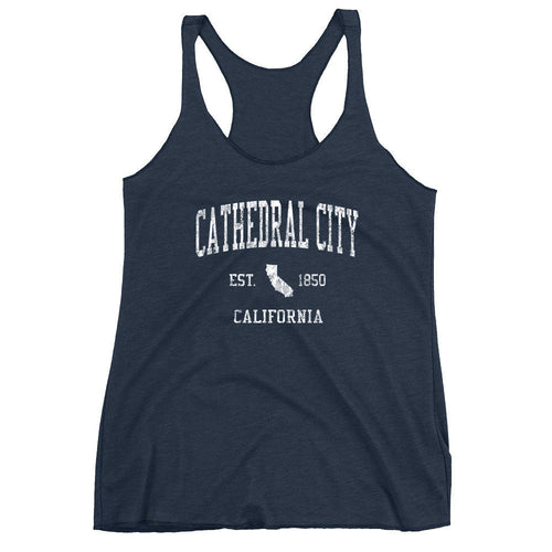 Vintage Cathedral City California CA Women's Racerback Tank Top