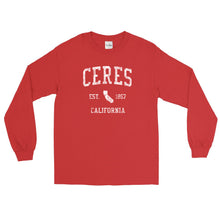 Vintage Ceres California CA Adult Long Sleeve T-Shirt (Unisex)
