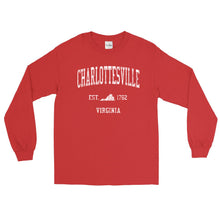 Vintage Charlottesville Virginia VA Adult Long Sleeve T-Shirt (Unisex)