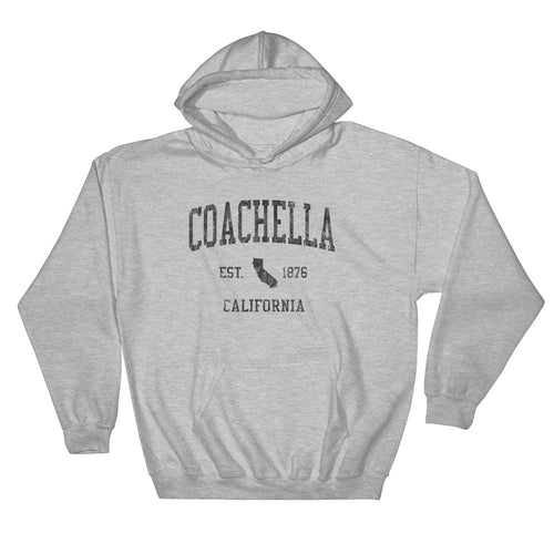Vintage Coachella California CA Hoodie Adult (Black Print)