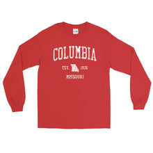 Vintage Columbia Missouri MO Adult Long Sleeve T-Shirt (Unisex)
