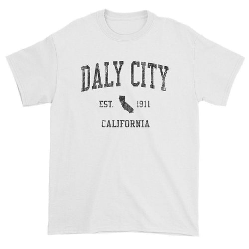 Vintage Daly City California CA T-Shirts Red Print
