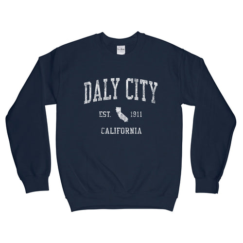 Daly City California CA Sweatshirt Vintage Sports Design - Adult (Unisex)