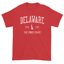 Vintage Delaware T-Shirt Sports Design Heavy Cotton Adult Tee
