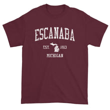 Vintage Escanaba Michigan MI T-Shirt Adult
