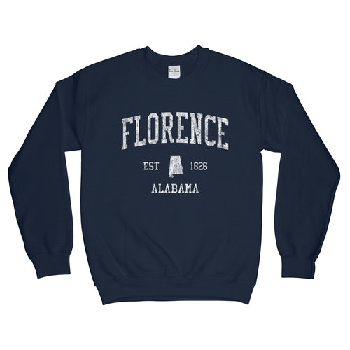 Florence Alabama AL Sweatshirt Vintage Sports Design - Adult (Unisex)