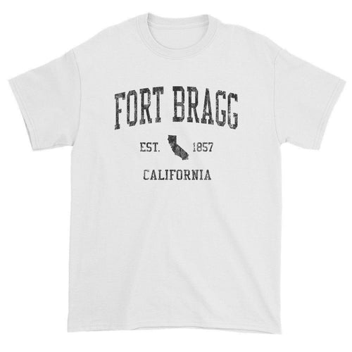 Vintage Fort Bragg California CA T-Shirts Red Print