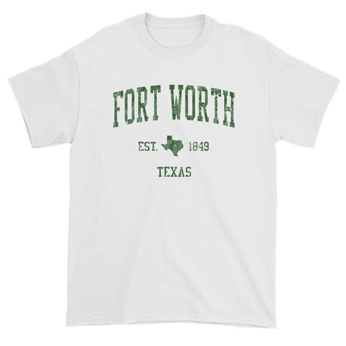 Vintage Fort Worth Texas TX T-Shirts Red Print