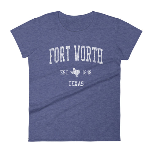 Fort Worth Texas TX Women's T-Shirt Vintage Sports Design Tee