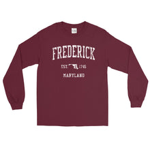 Vintage Frederick Maryland MD Adult Long Sleeve T-Shirt (Unisex)