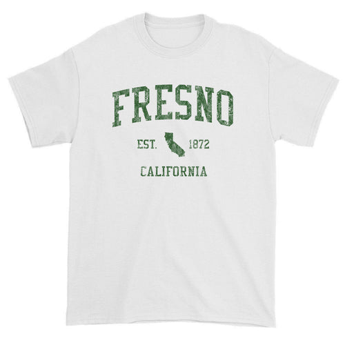 Vintage Fresno California CA T-Shirts Red Print