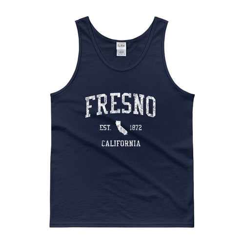 Vintage Fresno California CA Tank Top Adult