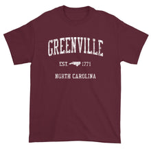 Vintage Greenville North Carolina NC T-Shirt Adult