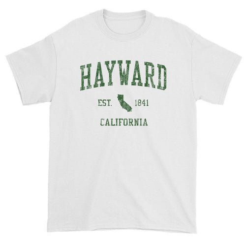 Vintage Hayward California CA T-Shirts Red Print