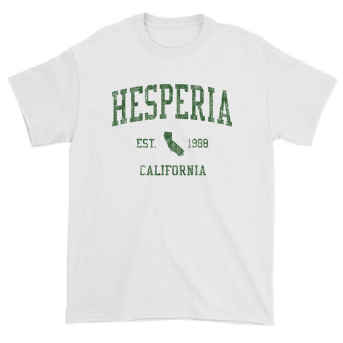 Vintage Hesperia California CA T-Shirts Red Print