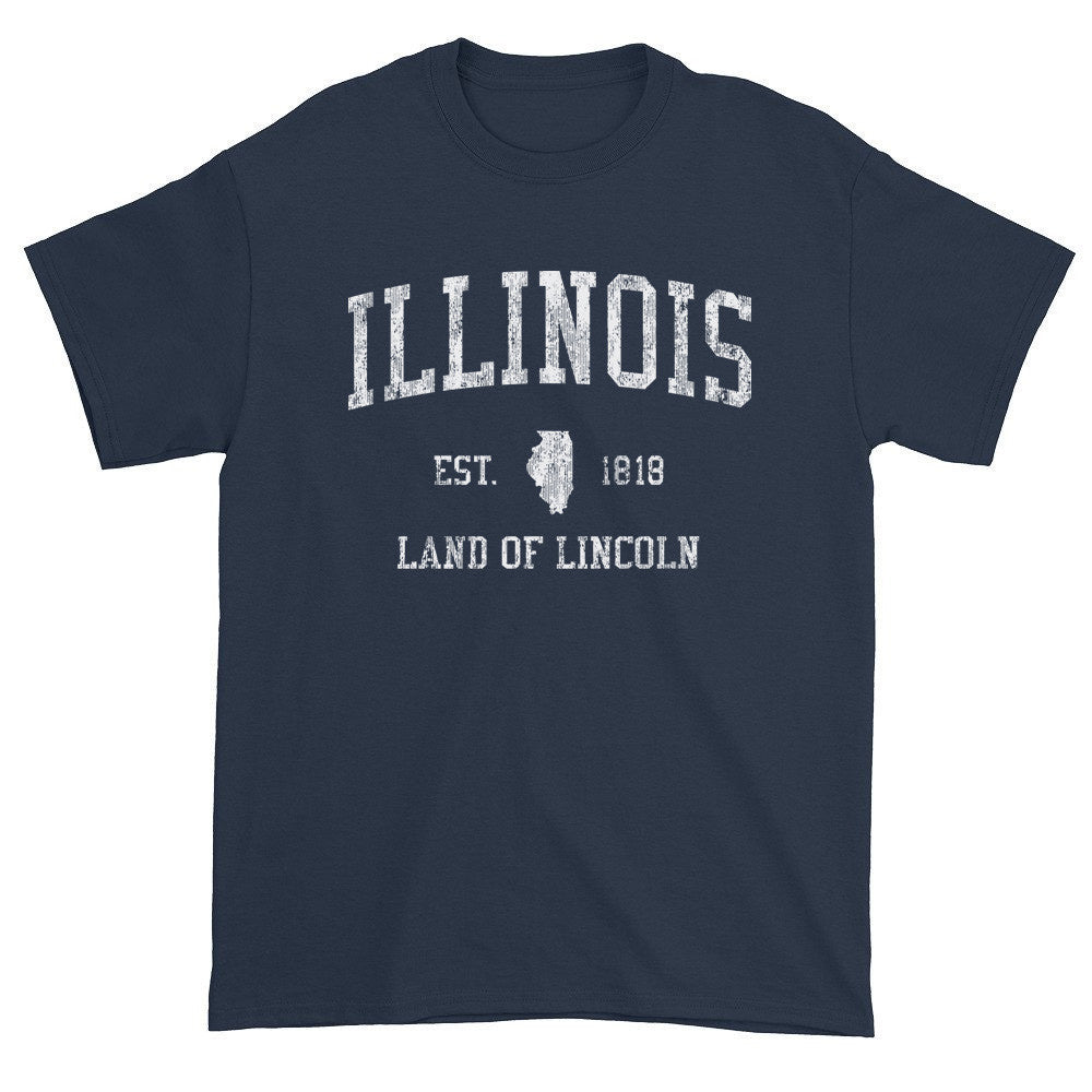 Vintage Illinois IL T-Shirt Adult - JimShorts