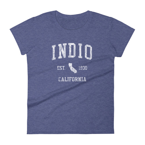 Indio California CA Women's T-Shirt Vintage Sports Design Tee