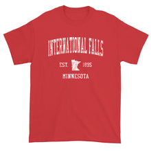 Vintage International Falls Minnesota MN T-Shirt Adult