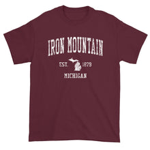 Vintage Iron Mountain Michigan MI T-Shirt Adult
