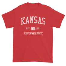 Vintage Kansas T-Shirt Sports Design Heavy Cotton Adult Tee