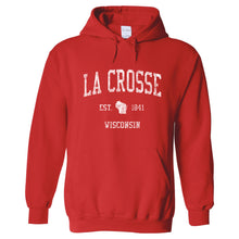 La Crosse Wisconsin WI Hoodie Vintage Sports Design - Adult (Unisex)