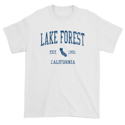 Vintage Lake Forest California CA T-Shirts Red Print