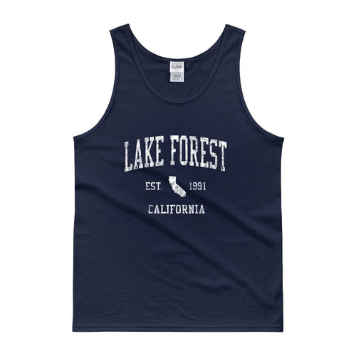 Vintage Lake Forest California CA Tank Top Adult