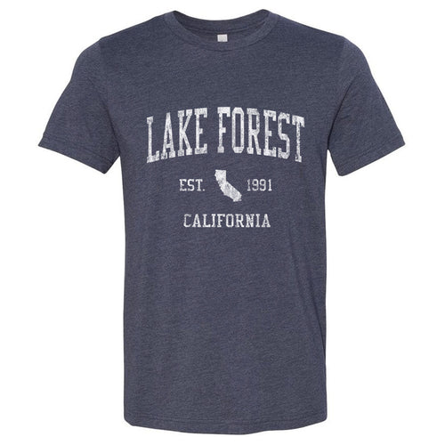 Lake Forest California CA T-Shirt Vintage Sports Design - Adult (Unisex Tee)