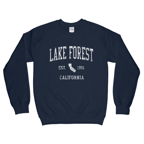 Lake Forest California CA Sweatshirt Vintage Sports Design - Adult (Unisex)