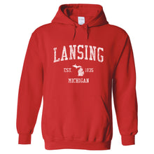 Lansing Michigan MI Hoodie Vintage Sports Design - Adult (Unisex)