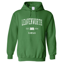 Leavenworth Kansas KS Hoodie Vintage Sports Design - Adult (Unisex)