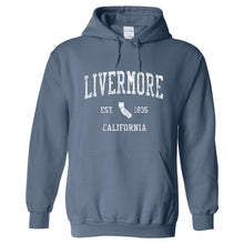 Livermore California CA Hoodie Vintage Sports Design - Adult (Unisex)